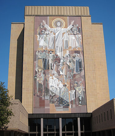 The Hesburgh Library at the University of Notre Dame