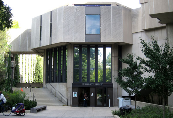 The library at Northwestern University