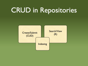 CRUD in Repositories
